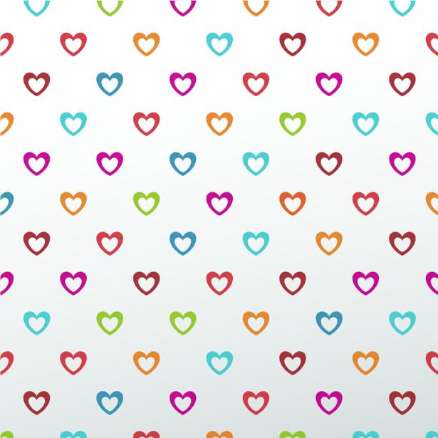 Фотообои с сердечками (background-0000381)