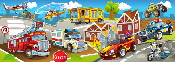 Фотообои городской транспорт (child-440)