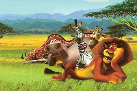Детские фотообои 3D Мадагаскар (children-0000010)