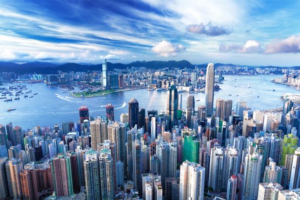 Фотообои Гонконг, здания, город, небоскребы (city-0000210)
