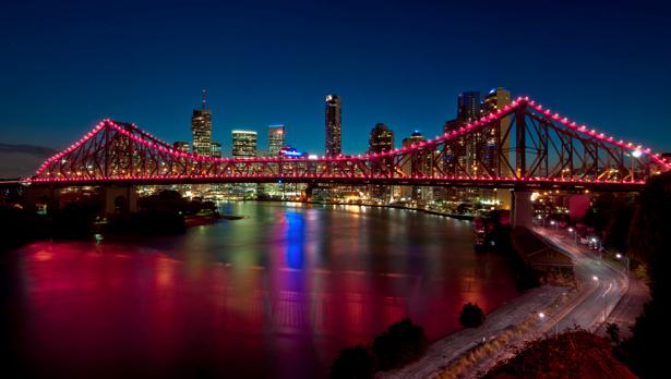 Фотообои мост, вечерний город (city-0000218)
