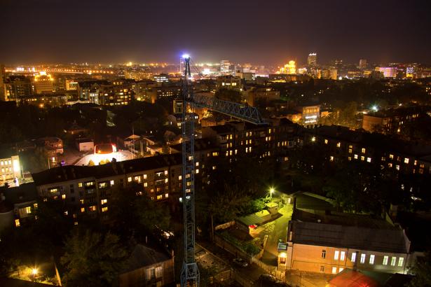 Фотообои город Днепропетровск ночью (city-0000925)