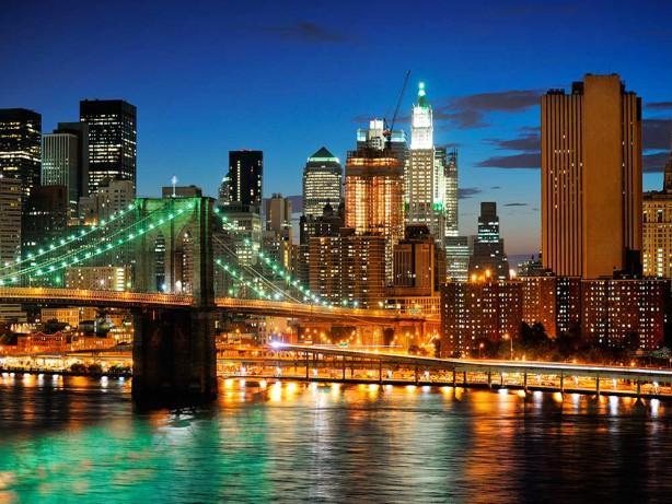 Фотообои мост в Нью-Йорке 200х150 (city239)