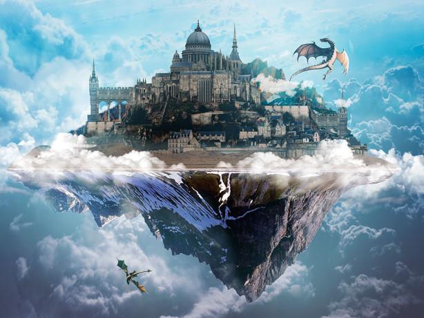 Фотообои Замок и драконы (fantasy-0000183)