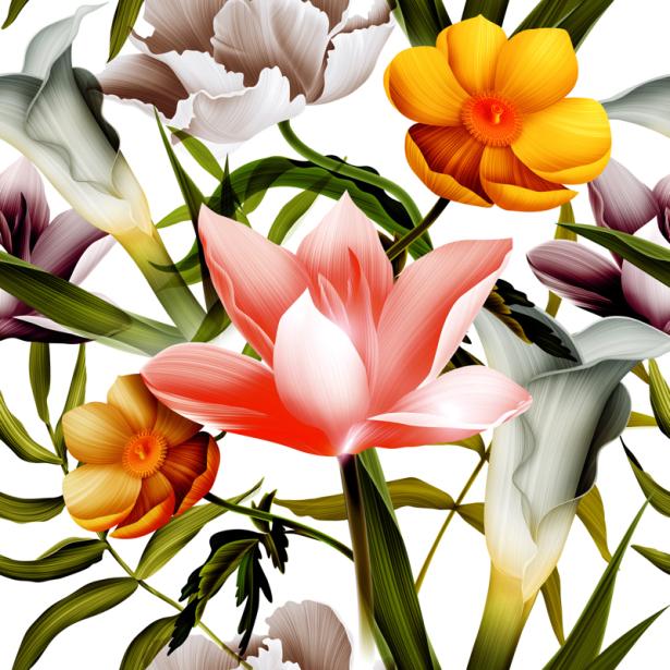 Обои для стен весенние цветы (flowers-0000675)