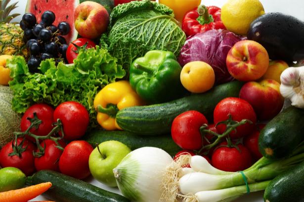 Фотообои для кухни овощи и фрукты (food-0000039)