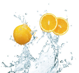 Фотообои для кухни Апельсин в воде (food-0000096)
