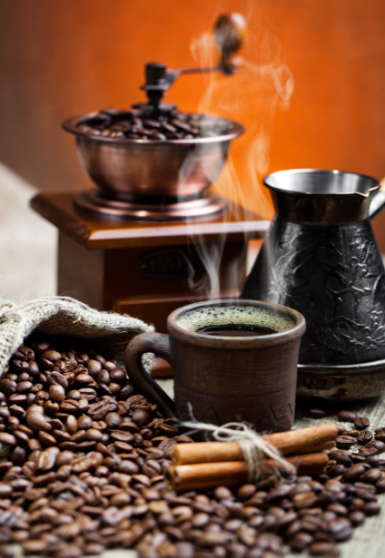 Кофемолка зерна кофе фотообои кухня (food-0000157)