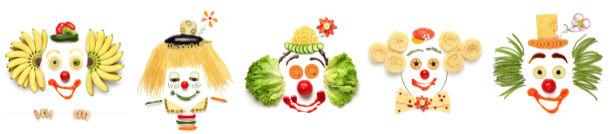 Фотообои кухня лица из овощей (food-0000313)