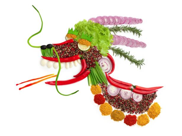 Фотообои на кухне композиция из овощей (food-0000318)