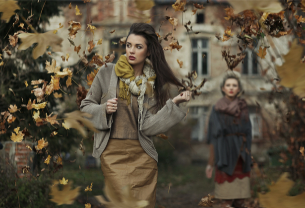 Фотообои мода девушка платье осень (glamour-0000112)