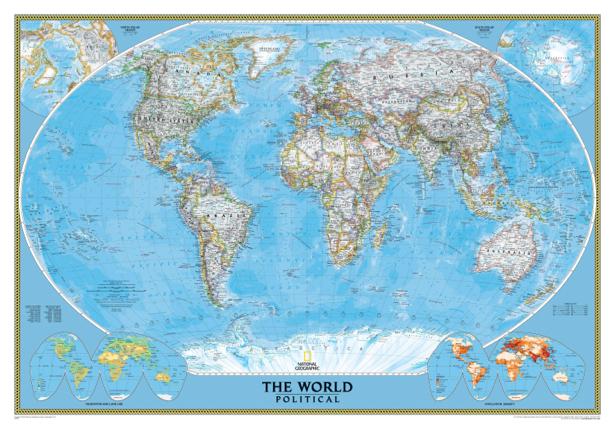 география, карты, карта мира (map-0000019)