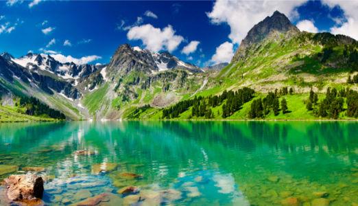 Фотообои с природой горное озеро отражения (nature-00007)