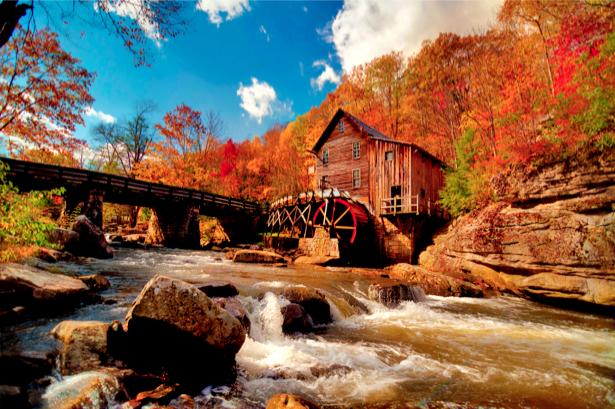 Фотообои виды природы горная река (nature-00072)