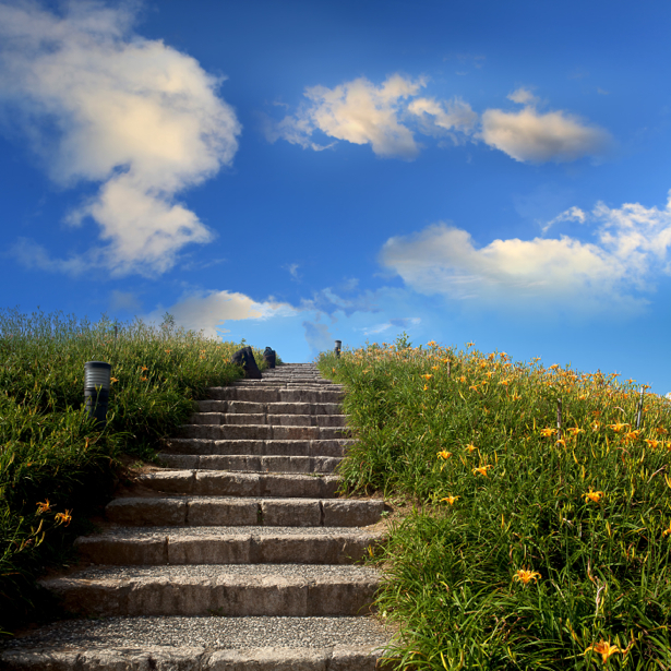 Фотообои лестница в небо (nature-00553)
