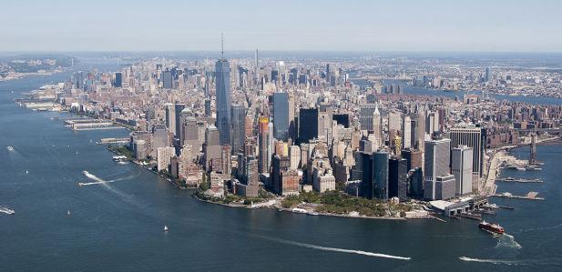 Фотообои Вид на Нью-Йорк с ветролета (panorama-75)