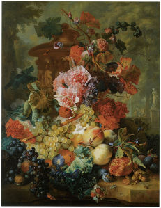 натюрморт с цветами и фруктами ян ван хейсум (pf-66)