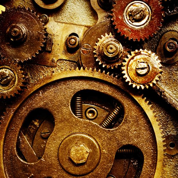 Фотообои часы и шестеренки (retro-vintage-0000194)