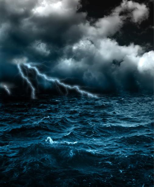 Фотообои море волны гроза (sea-0000248)