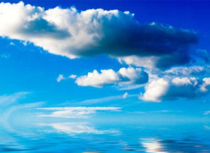 Фотообои отражение неба в воде (sky-0000093)