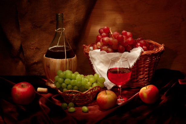 Фотообои винный натюрморт (still-life-0007)