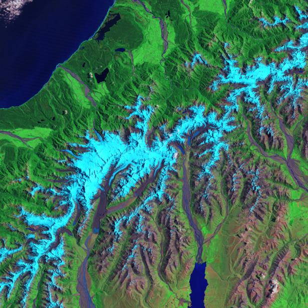 Фотообои на стену голубой и зеленый (terra-00194)