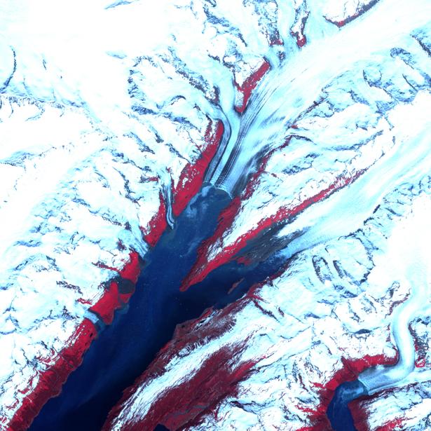 Фотообои для стен обстракция снега (terra-00237)