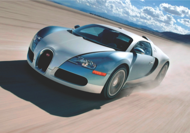 Фотообои концепт-кар Bugatti Veyron в пустыне (transport-0000181)