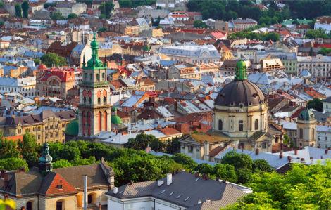 Фотообои Львовские крыши (ukr-60)
