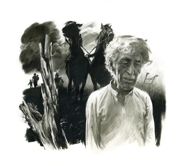 Иллюстрация к произведению Василия Стефаника Сыновья (ukraine-0137)