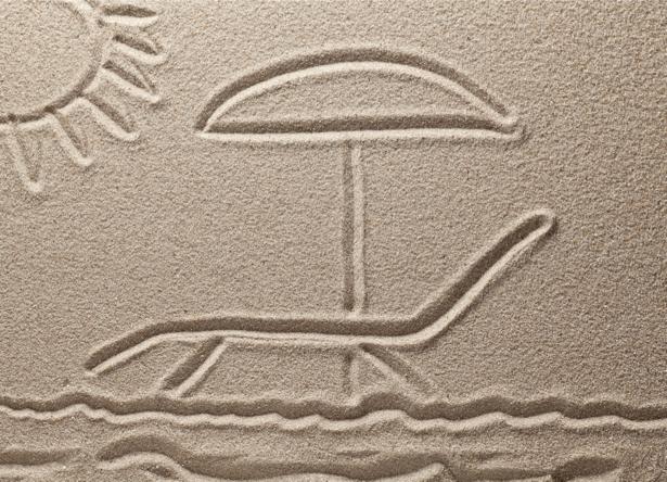 Фотообои для ванной рисунок на песке (underwater-world-00125)