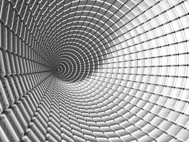 Фотообои алюминиевый тоннель (3d14)