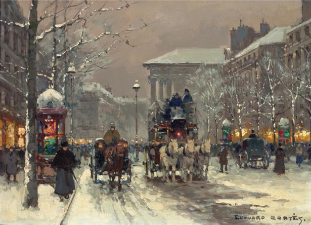 Фотообои Зимние сцены в Париже (art-0000692)