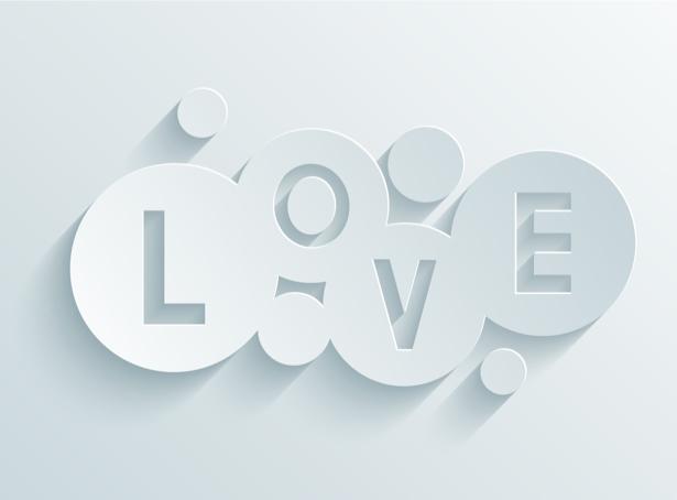 Фотообои в офис белые Love (background-0000357)