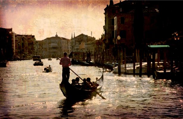 Фотообои Венеция канал винтаж (city-0000474)