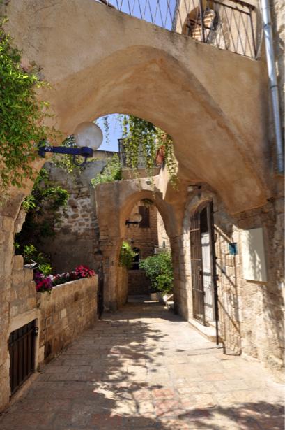 Фотообои улица дома арка (city-0000697)