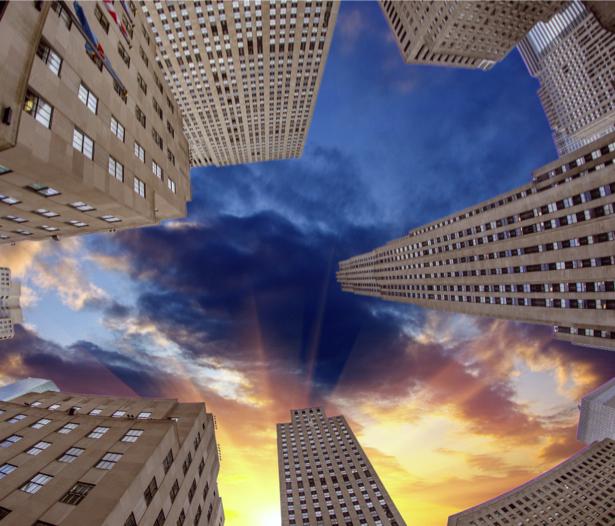 Фотообои небоскребы вид снизу (city-0000792)