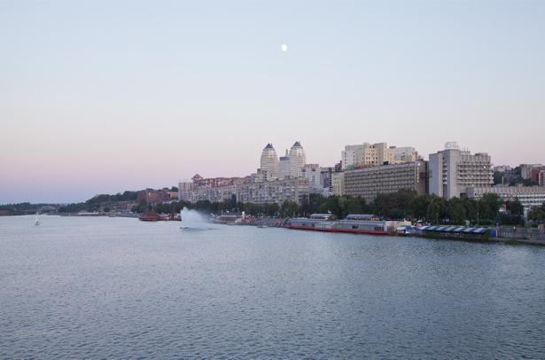 Фотообои Днепропетровск фото с моста (city-0000915)