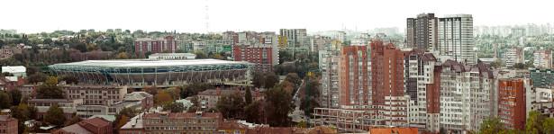 Фотообои панорама Днепропетровска стадион (city-0000943)