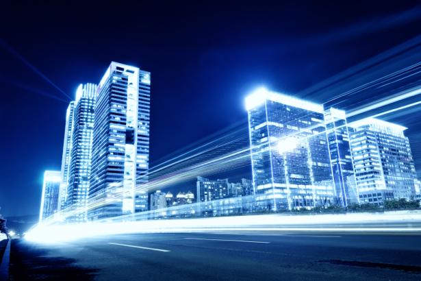 Фотообои ночной город в огнях (city-0001130)