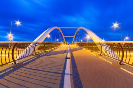 Мост ночью - фотообои (city-0001374)