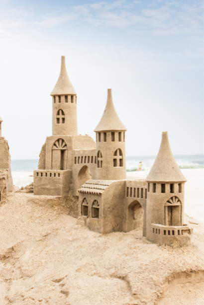 Замок из песка Фотообои (city-0001394)