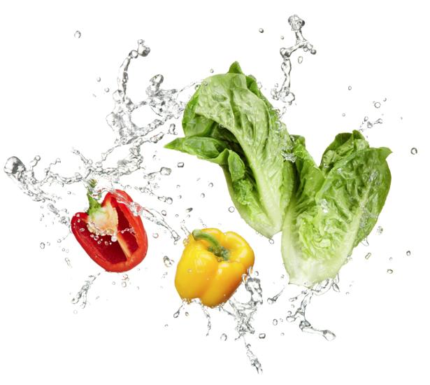 Фотообои на кухню овощи в воде (food-0000094)