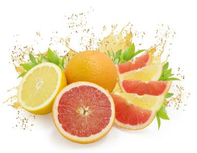 Фотообои кухня в брызгах сока фрукты (food-0000194)