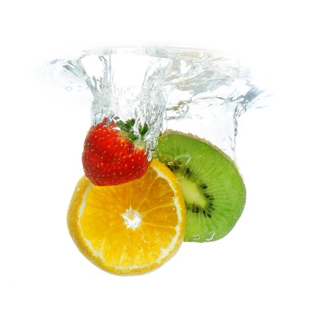 Фотообои фруктовое ассорти в брызгах (food-0000229)