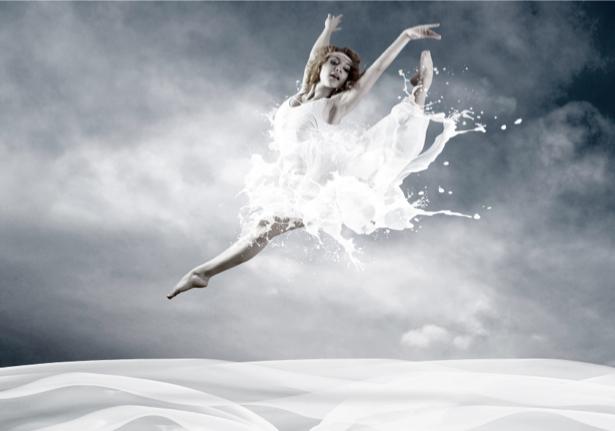 Фотообои танец молочные всплески (glamour-0000001)