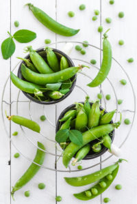 Фотошторы зеленый горошек (kitchen-curtain-00001)