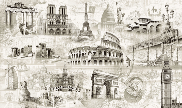 Фотообои в зал Архитектура мира (printmaking-0000048)