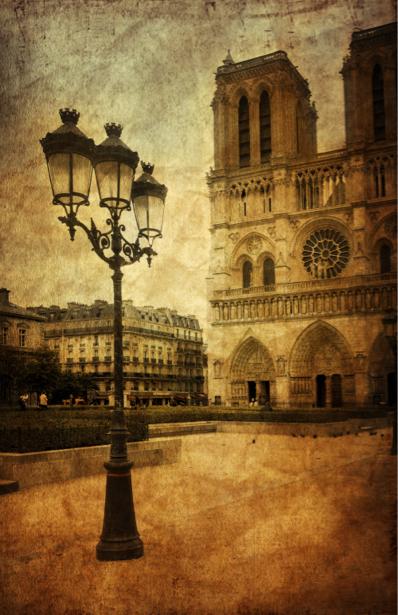 Фотообои Нотр Дам де Париж (retro-vintage-0000185)
