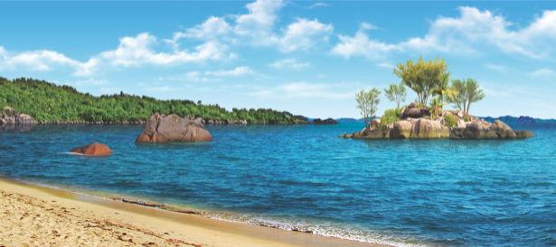 Фотообои остров в море берег (sea-0000338)